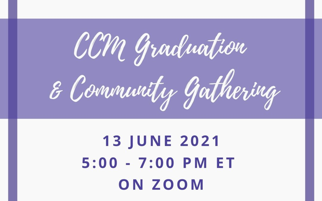 Community Welcome for CCM Graduates